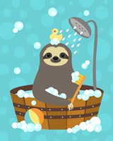 Bathing Sloth Fine Art Print