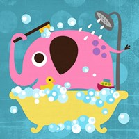 Elephant in Bathtub Fine Art Print