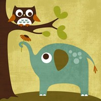Owl and Elephant Fine Art Print