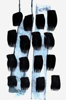 Black White Blue Fine Art Print