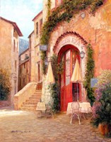 Eze Village Cafe, France Fine Art Print