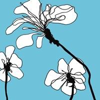 Flowers in Blue 1 Fine Art Print