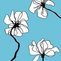 Flowers in Blue 2 Fine Art Print