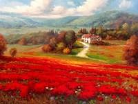 Poppy Fields Afar Fine Art Print