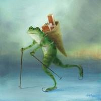 The Yuletide Frog Fine Art Print