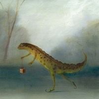 The Yuletide Newt Fine Art Print