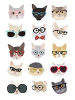 Cats with Glasses Fine Art Print