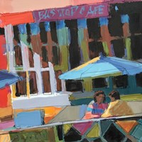 Bus Stop Cafe Fine Art Print