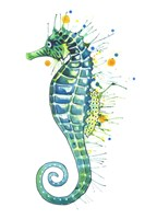 Green Seahorse Fine Art Print