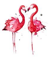 Pink Flamingos Fine Art Print