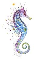 Purple Seahorse Fine Art Print