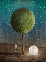 Tappy and the Moon Fine Art Print