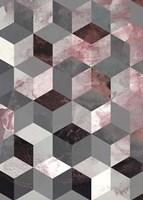 Cubes Rose Fine Art Print