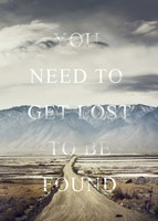 Get Lost Framed Print