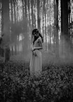 Girl in the Woods Fine Art Print