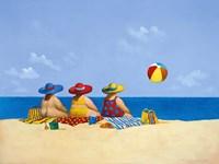 Three Ladies Sunning Fine Art Print
