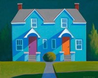 Blue House Fine Art Print