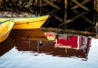Dories and Reflection Fine Art Print