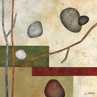 Sticks and Stones VII Framed Print
