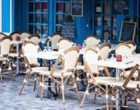 Blue Cafe Fine Art Print