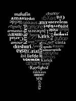 Translation of Love (black) Fine Art Print
