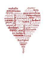 Translation of Love (white) Fine Art Print