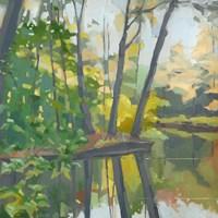 Wooded Pond Fine Art Print