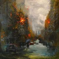 Rainy in South Manhattan Fine Art Print
