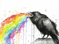 Raven Tastes the Rainbow Fine Art Print
