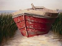 Red Boat Fine Art Print