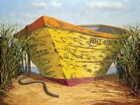 Yellow and Orange Rowboat Fine Art Print