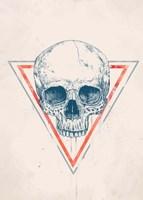 Skull in Triangle No. 2 Fine Art Print