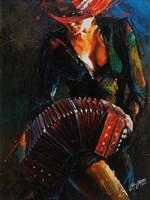 Reina del Bandoneon Fine Art Print