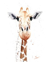Giraffe Watercolor Fine Art Print