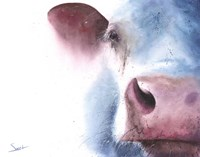Watercolor Cow Fine Art Print