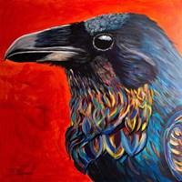 Glistening Raven Fine Art Print
