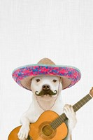 Dog Guitarist Fine Art Print