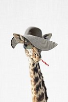 Giraffe Dressed in a Hat Fine Art Print