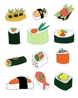 Sushi Set Fine Art Print