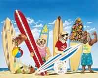 K-9 Surf Club Fine Art Print