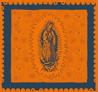 Orange and Blue Mary Fine Art Print
