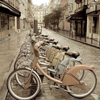 City Street Ride Fine Art Print