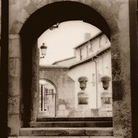 Courtyard in Burgos Fine Art Print