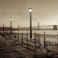 San Francisco Bay Bridge at Dusk Fine Art Print