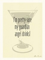 Guardian Angel Drinks Fine Art Print