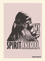 Spirit Animal Gorilla Fine Art Print