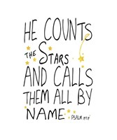 He Counts His Stars Fine Art Print