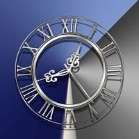 Silver Clock Fine Art Print