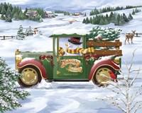 Snowman Delivery Fine Art Print