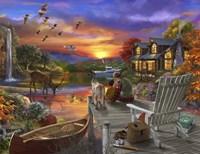 Sunset Cabin Fine Art Print